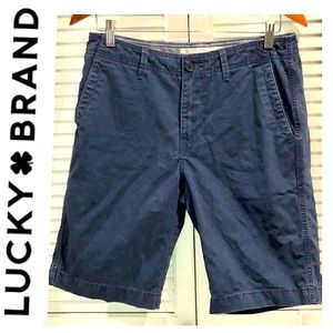 🍀 Lucky Brand Flat Front Blue Shorts 29
